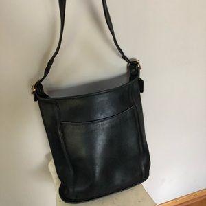 Coach large black bucket bag